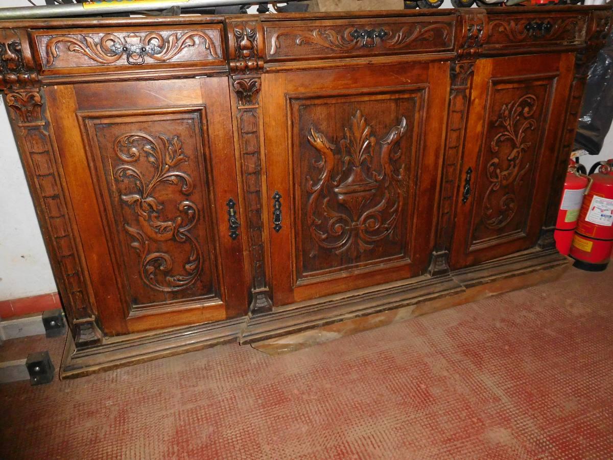 Vendo Mueble Antiguo Tallado A Mano 4 500 00 En Mercado Libre # Muebles Tallados A Mano