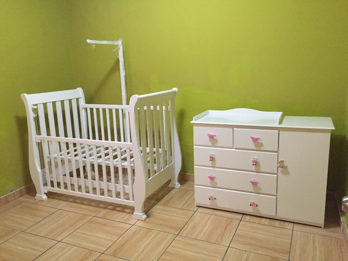 Vendo Mueble Cuna Y Comoda Color Blanco - S/ 1.000,00 en Mercado Libre