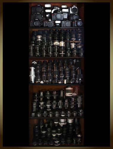 vendo o cambio cámara fotográfica profesional, lentes y más