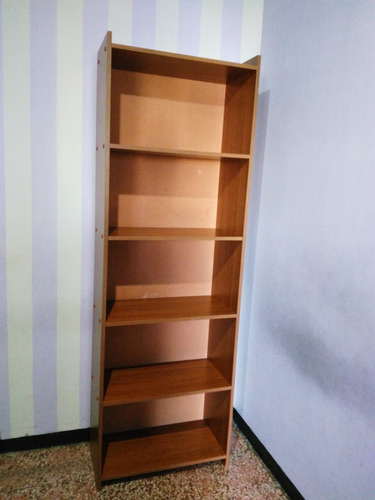 vendo o cambio mueble estante biblioteca de madera 6 repisas