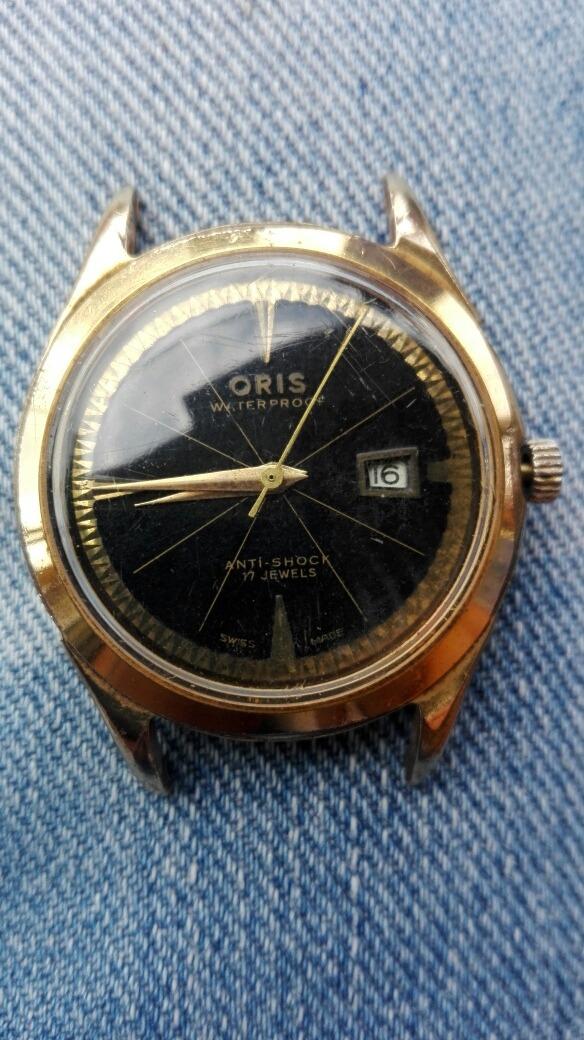 c9099351794b Vendo O Cambio Reloj Oris Antiguo De Cuerda Suizo Original ...