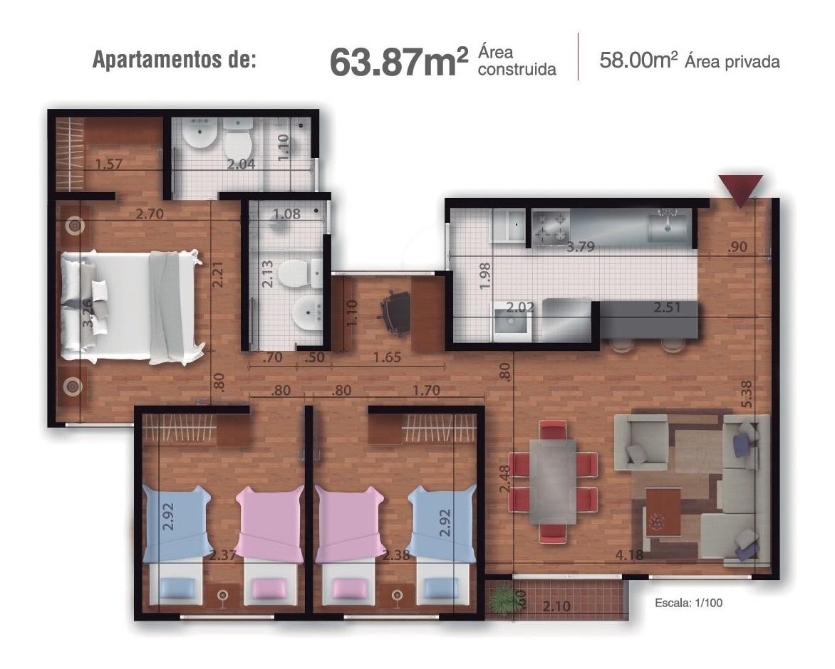 vendo o permuto apartamento abundara ciudadela la prosperid