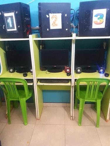 vendo o traspaso cabinas de internet 10 computadoras+muebles