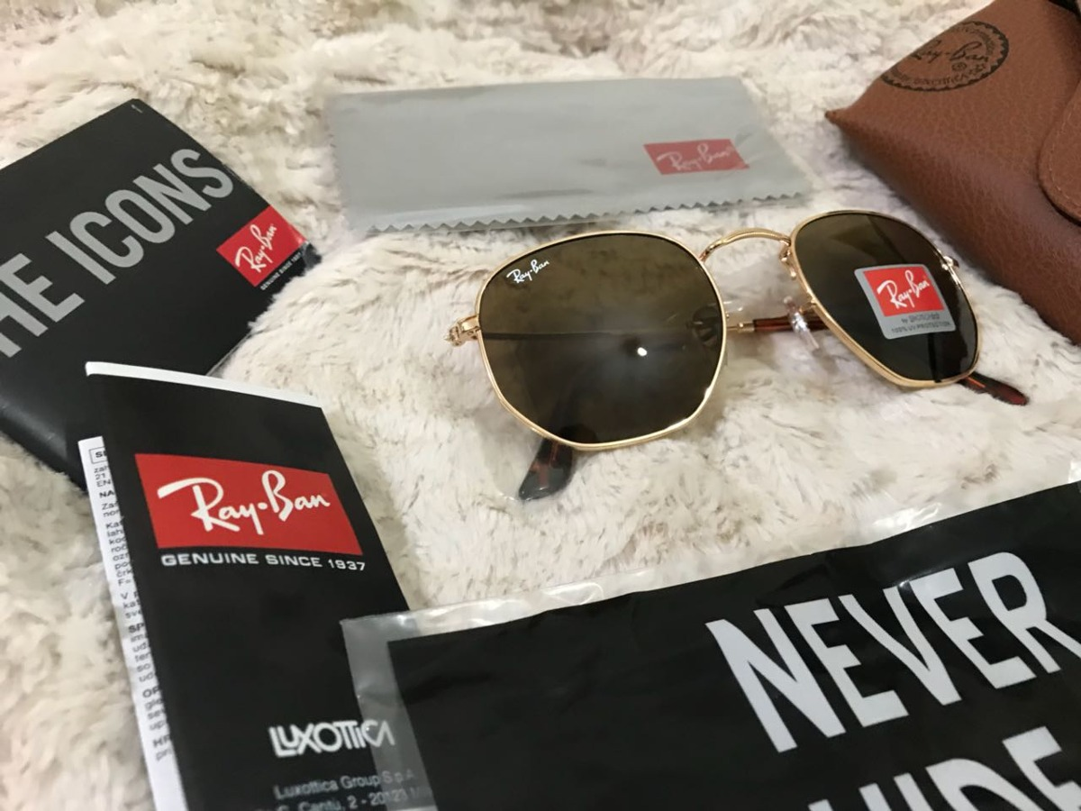 138c4113e Vendo Óculos Rayban Hexagonal Marrom Tamanho 51mm - R$ 230,00 em ...