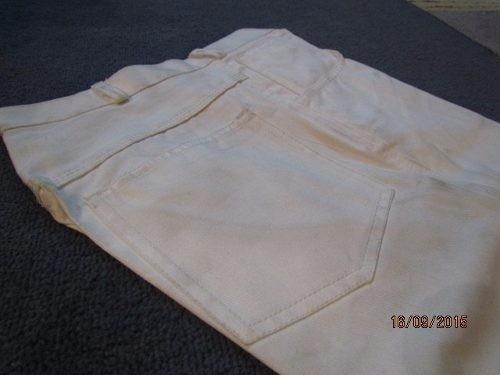 vendo pantalones d drill con cierre, corte tipo jean blancos