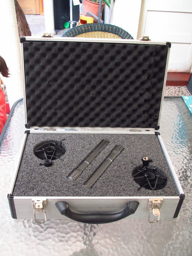 vendo par de microfonos de condensador shure sm94