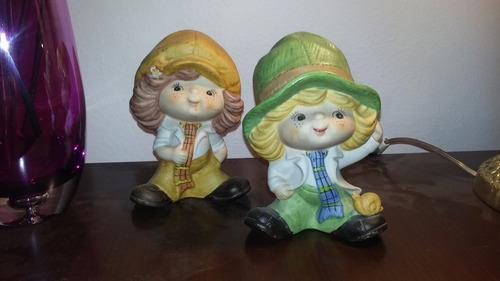 vendo pareja de gnomos de cerámica.