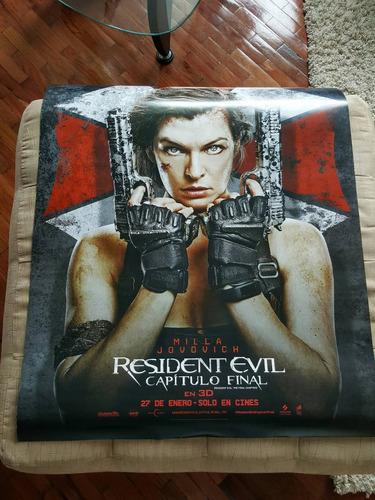 vendo  poster original resident evil 100cmx65cmm