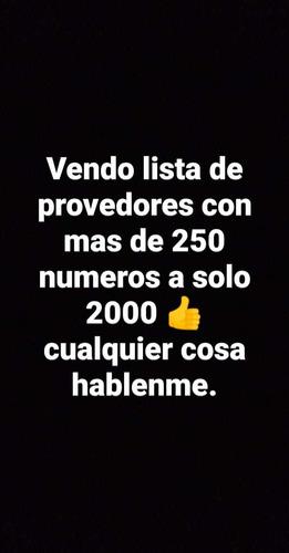 vendo proovedores +400 num