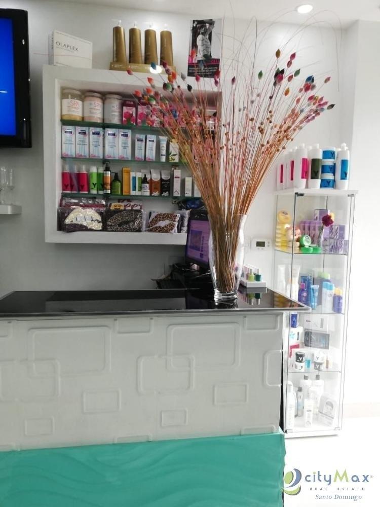 vendo punto comercial salón de belleza en piantini