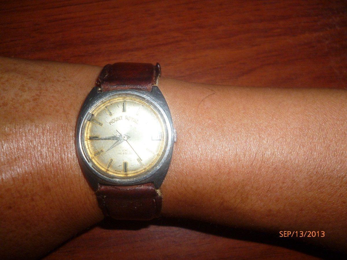 46be0a5ca916 Vendo Reloj Antiguo Mount Royal Suizo De Cuerda Funcional ...