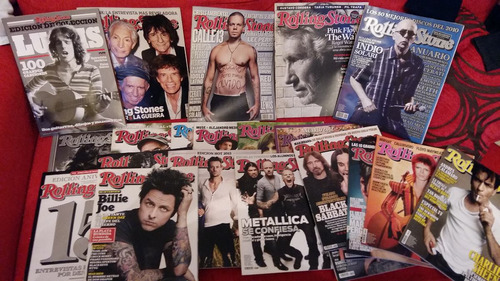 vendo revistas rolling stone x lote