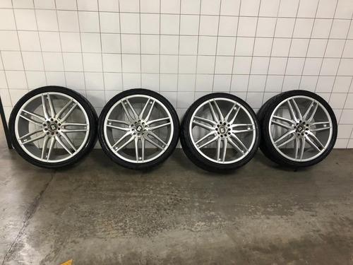 vendo rodas aro 20 motagi rancing + pneu yokohama