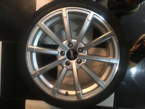 vendo rodas com pneu !!! rodas originais audi aro 19, 5 pneu