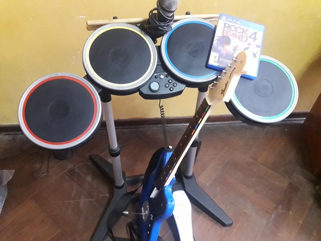 Vendo Set Completo Rockband 4 Ps4 - S/ 900,00