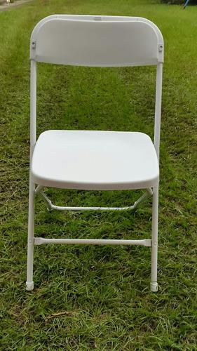 vendo sillas plegables nuevas de 7 libras blancas y negras