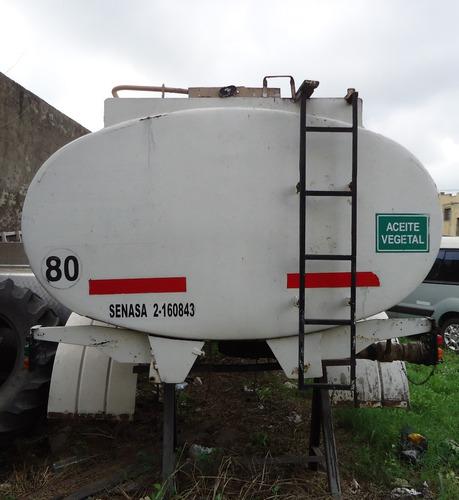 vendo tanque chasis de 9.000 litros acero al carbono.