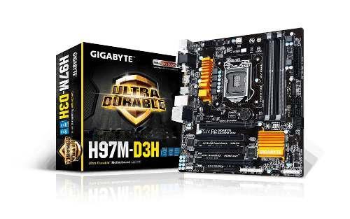 vendo tarjeta madre h97m-d3h gigabyte ultradurable