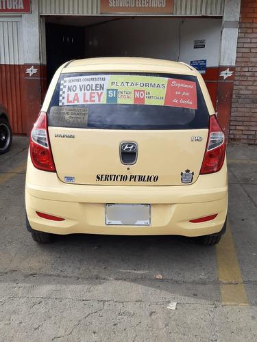 vendo taxi hyundai i10 modelo 2013 único dueño muy buen esta