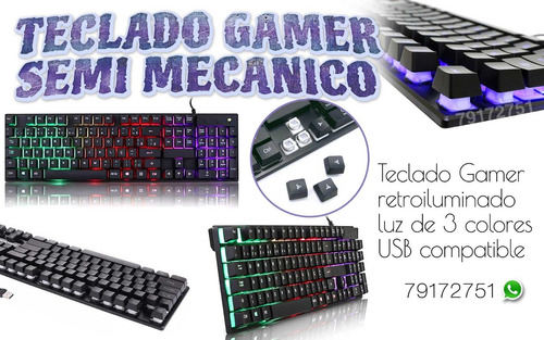 vendo teclado luminoso semi mecanico