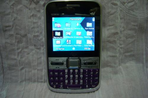 vendo telefono celular ava mini q5 de 3 sim con tv