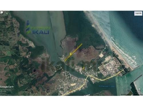 vendo terreno 7 hectáreas calle la ribera de la laguna de tampamachoco tuxpan veracruz, cuenta con un frente de 54 m² y una longitud de 1300 m². el terreno tiene cerca una escuela, el hospital de ims