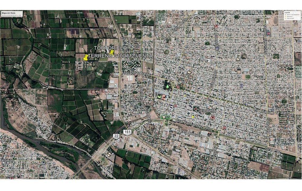 vendo terreno de 2100 m2 zona chacras cipolletti