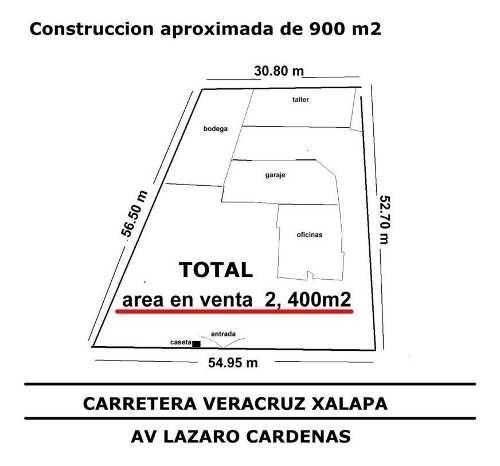 vendo terreno de 2,400m2 súper ubicado en avenida principal