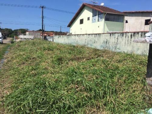 vendo terreno de esquina no cibratel, em itanhaém - ref 4626