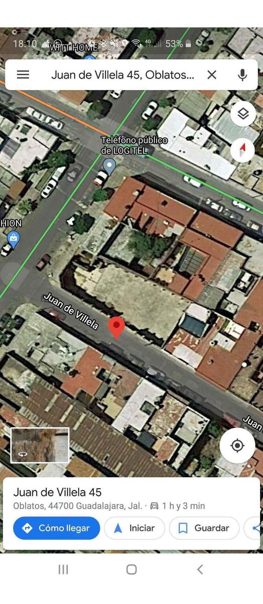 vendo terreno en esquina de uso comercial en oblatos, guadalajara, jal
