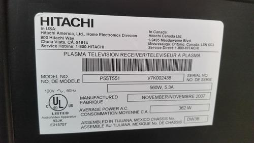 vendo tv lcd hitachi plasma para repuestos pantalla buena