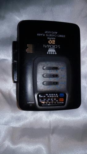 vendo un walkman radio cassette s.crown