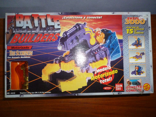 vendo vehículo motorizado the scorpion de battle builders