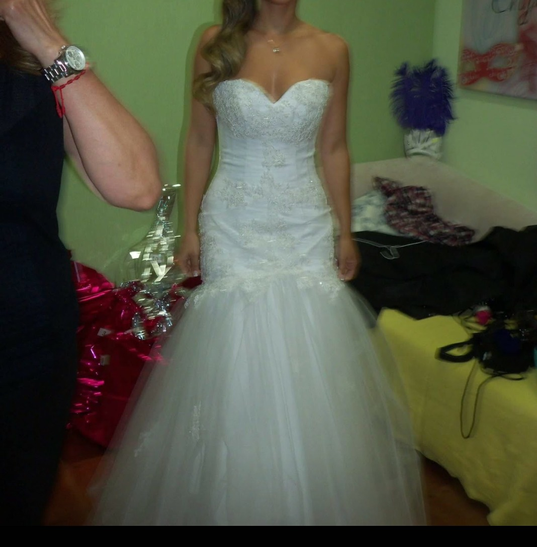 Vendo Vestido De Novia Moderno - $ 15.000,00 en Mercado Libre