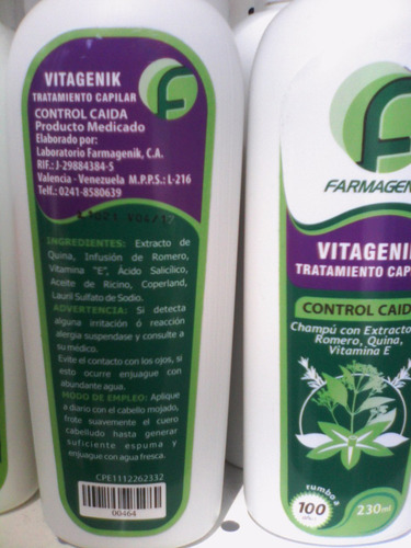 vendo vitagenik control caida para el cabello