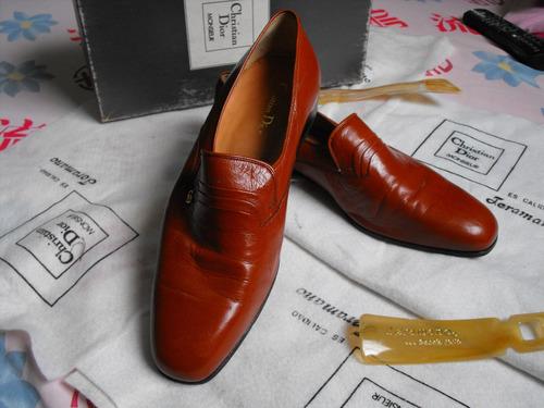 vendo zapatos de vestir christian dior. original. marron.44.