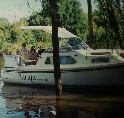 vendo/permuto crucero cabinado pilotín año 1982 motor fiat