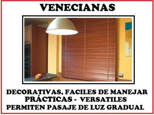 venecianas pvc - aluminio - madera