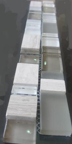venecita guarda vidrio piedra marmol tiras de 5 x 30 cm