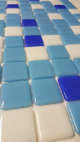 venecita mix bco, celeste y azul calidad premium 2,5x2,5 xm2