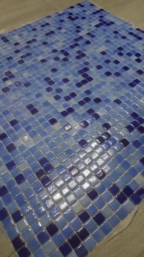 venecita mix celeste y azul calidad premium 2,5x2,5 por m2