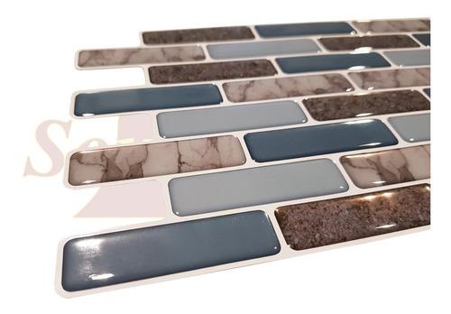 venecitas autoadhesivas pvc relieve baño cocina azulejo soul