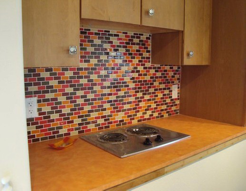 venecitas azulejos y barritas de vidrio naranjas madecoglass