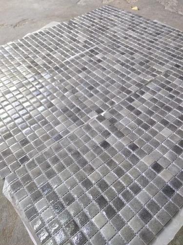 venecitas biseladas gris niebla 2,5x2,5 premium