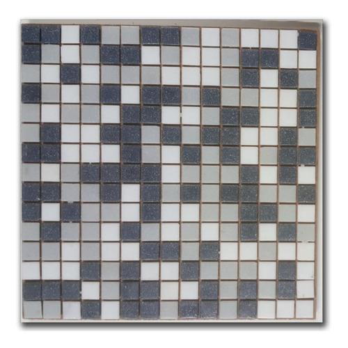 venecitas biseladas mix 2 tonos gris c/ blanco 2x2cm