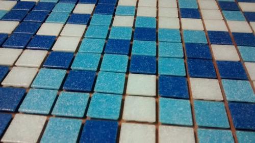 venecitas biseladas mix 2x2 celestes y azul biseladas