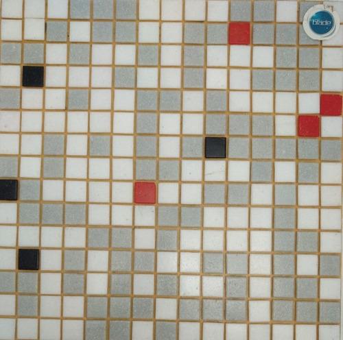 venecitas biseladas mix gris blanco rojo negro 2x2