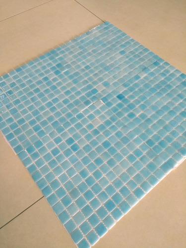 venecitas color celeste 2,5x2,5 cm premium p piletas x m2 !