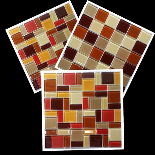 venecitas guardas combinados de vidrio tonos marrones