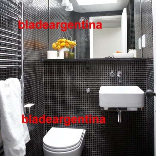 venecitas negras 2x2 cm revestimiento de baño o piletas